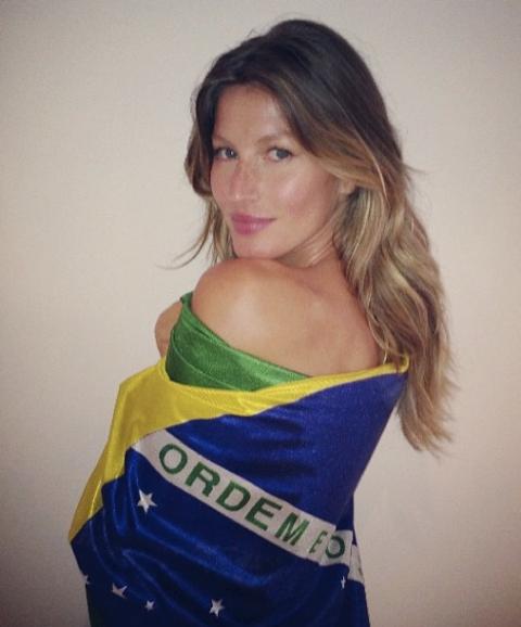 Gisele Bündchen está no Rio e seus compromissos não se limitam à festa de abertura da Olimpíada / Foto: reprodução do Facebook