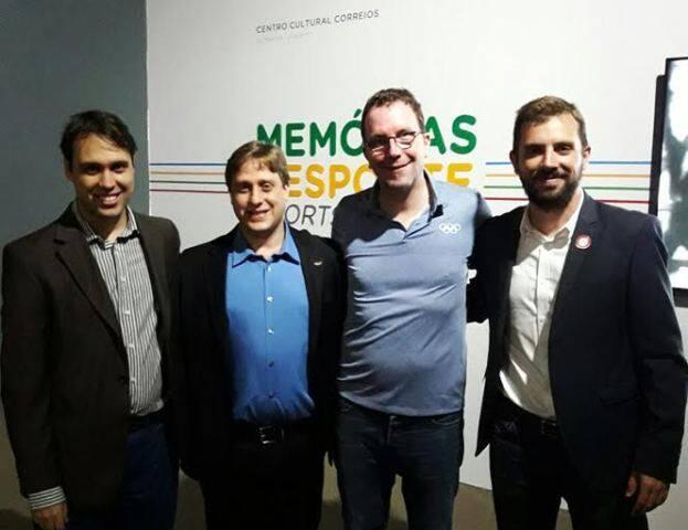 José Cândico, José Joaquim, Jochen Färber e José Manuel Domínguez no Centro Cultural Correios / Foto: divulgação