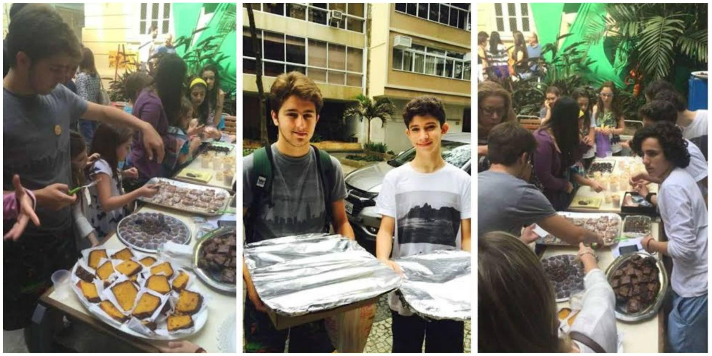 Boa ação entre os alunos da Escola Israelita: os alunos regulares estão ajudando os bolsistas a conseguir dinheiro para uma viagem / Foto: divulgação