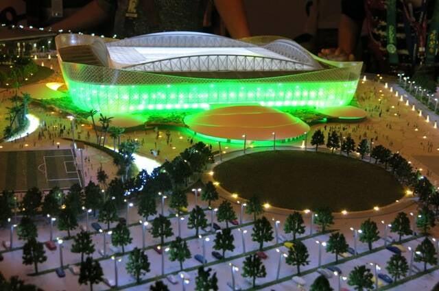 A maquete do estádio de Al Rayyan, um dos oitos que o Qatar vai construir para a Copa de 2022/ Foto: divulgação