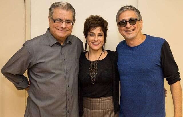 Flávio Marinho, Soraya Ravenle e Zé Renato: papo sobre música e teatro no CCBB / Foto: Camilla Guimarães