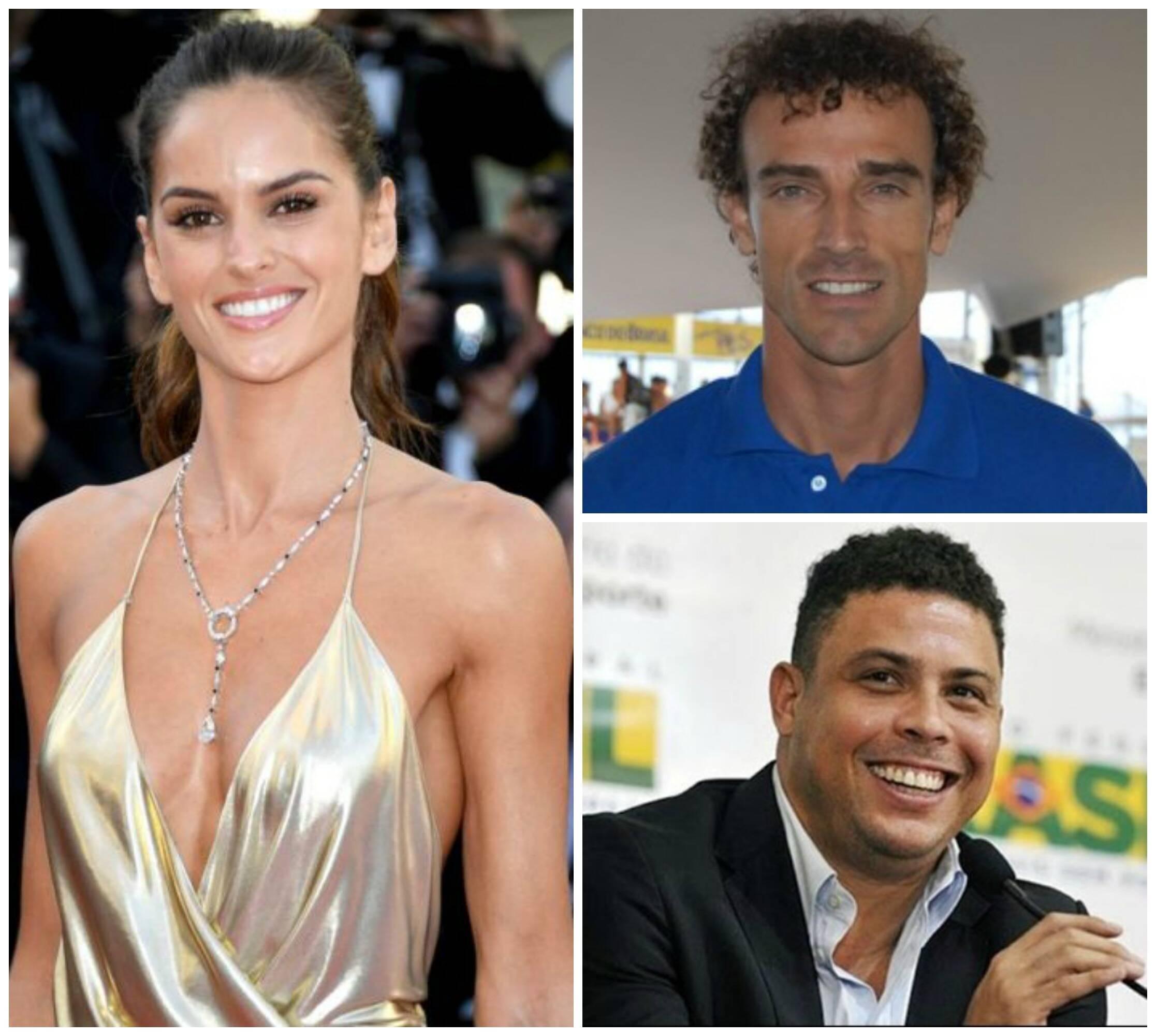 O ex-atleta Carl Lewis, no alto; acima, em sentido horário, Izabel Goulart; Emanuel Rego; Ronaldo Fenômeno/ Fotos: reprodução da internet