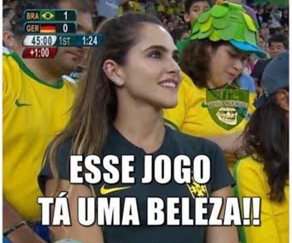 Wanda Grandi: imagem que pareceu na TV durante o jogo Brasil X Alemanha viralizou na Internet