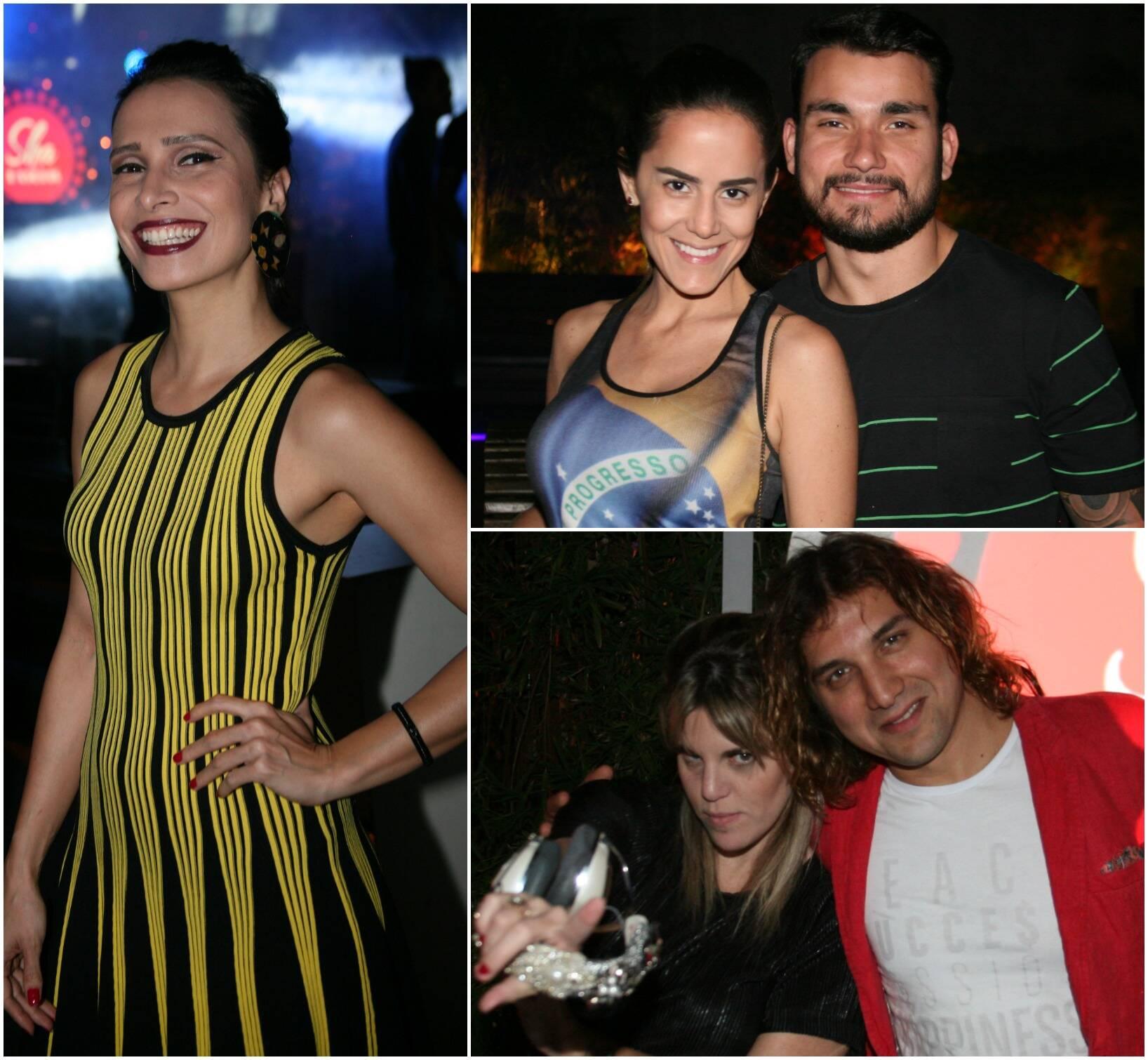 No alto, Marcela Mangabeira; Renatinha Bahiense e Ygor Mendes; DJ Scarlet e Rodrigo Sha /Fotos: