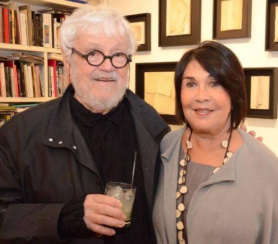 Arthur Luiz Piza e a galerista de SP Raquel Arnaud  (2)