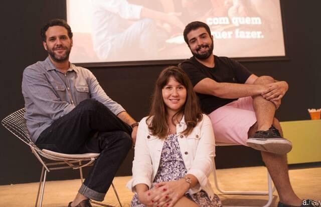 Os professores do próximo curso da Laje: Guilherme Velho, Patricia Cotton  e Ronaldo Porto / Foto: divulgação
