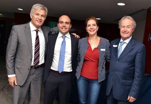 DSC_4427   Charles de Sá ,  Antônio Paulo Pitanguy Muller ,  Natale Gontijo de Amorim  e Gino Rigotti  - - Outubro 2016 - Foto CRISTINA GRANATO