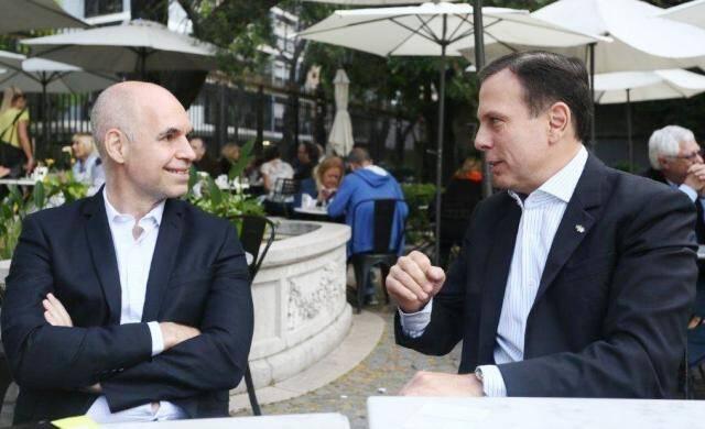 De prefeito para prefeito eleito: Horácio Rodríguez Larreta, prefeito de Buenos Aires. conversa com João Doria / Foto: Gustavo Rampini