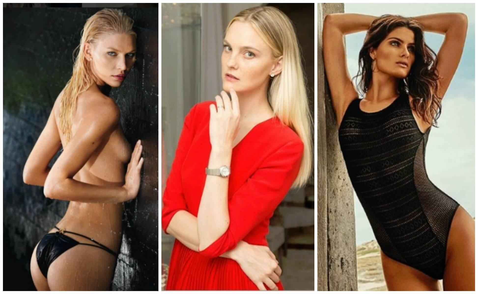 Aline Weber, Carol Trentini e Isabeli Fontana: três das lindas modelos que desfilam, nesta terça, no Fashion Elle Preview / Fotos: reprodução do Instagram