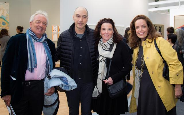 O colecionador  Philippe Cristelli, Ale Primo, Heloisa Monteiro e Isabel Brossolette Branco