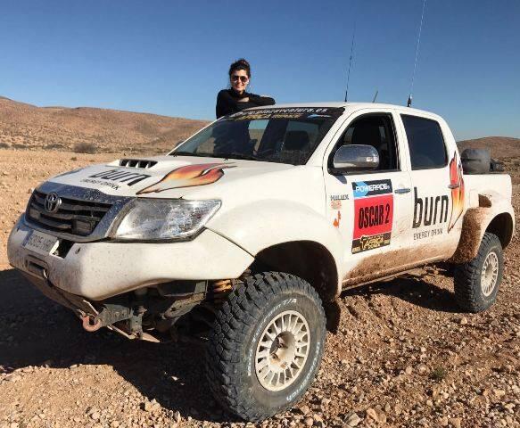 Angelica de la Riva já está percorrendo a rota que os competidores da África Race só vão conhecer à ultima hora / Foto: divulgação