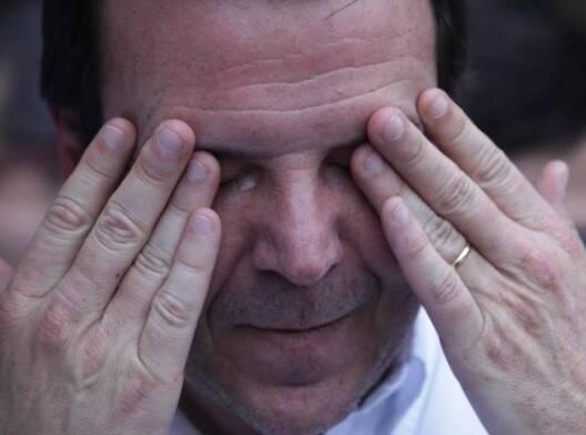 Eduardo Paes: o prefeito chorou na despedida dos funcionários que trabalham no Centro Administrativo da Prefeitura, na Cidade Nova / Foto: Ricardo Cassiano