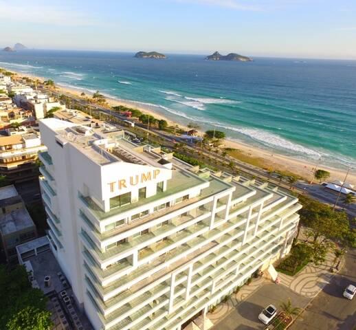 No alto, Daniela Maia, do Qui Qui; acima, o hotel LHS, ainda com a marca Trump na fachada / Fotos: Marco Rodrigues (acervo do site Lu Lacerda) e divulgação