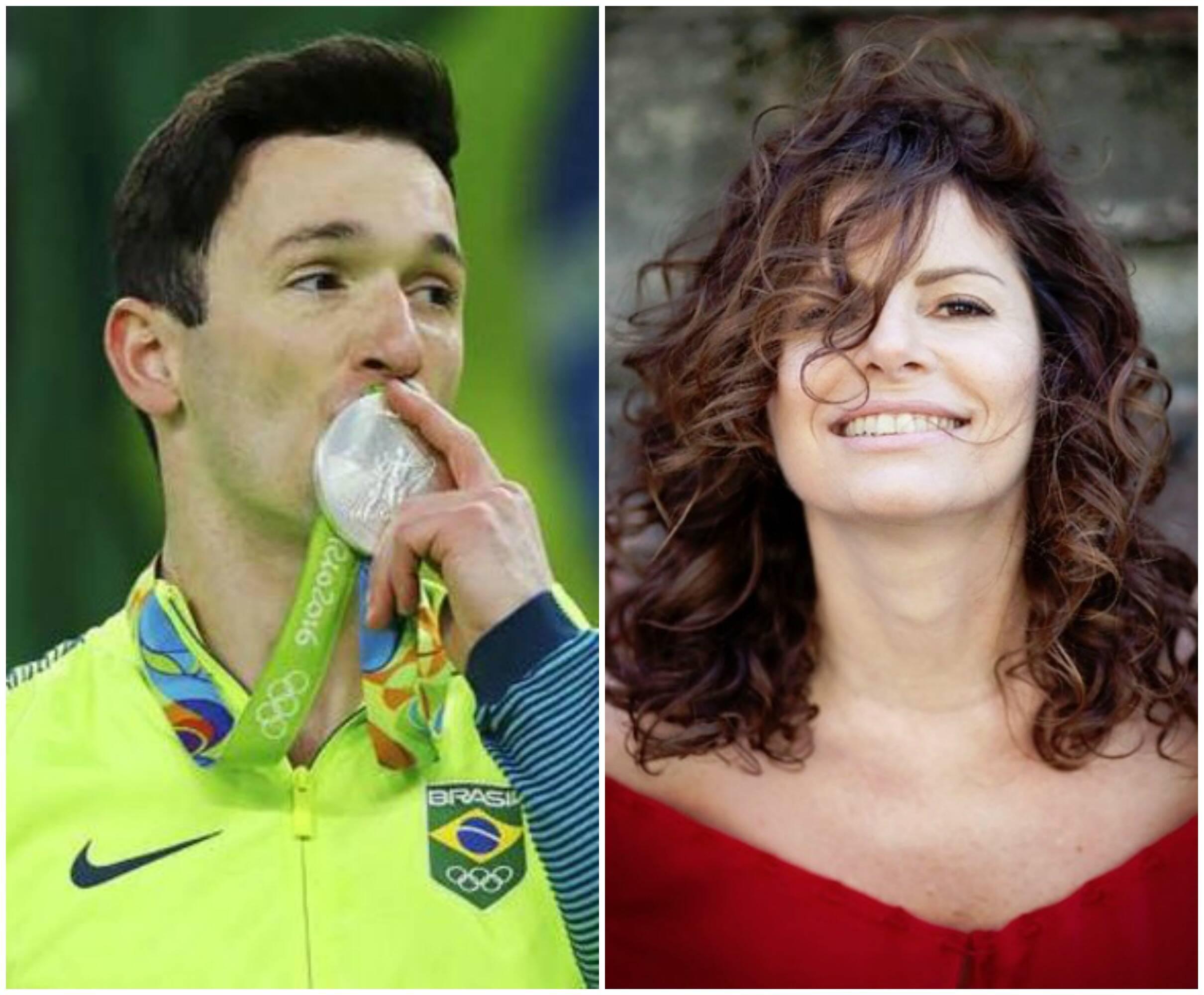 Diego Hypólito e Débora Bloch: