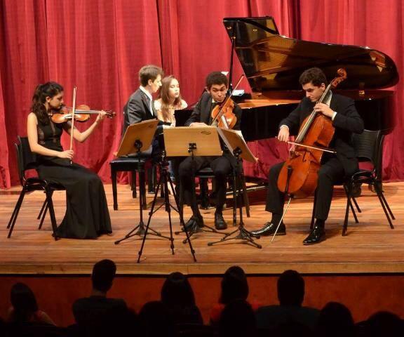 """Os integrantes do Quartet Aurora: apresentação deles, nesta quarta, encerra a temporada 2016 do """"Música no Museu"""" / Foto: divulgação"""