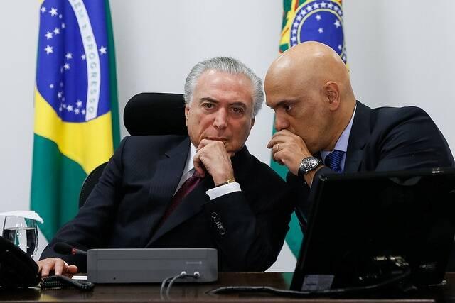 Temer em reunião com o Núcleo Institucional da Presidência da República e com o ministro da Justiça Alexandre de Moraes / Foto: Beto Barata