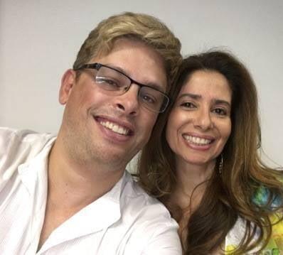 Bruno Chateaubriand e Andrea João: o atual e a ex presidente da Federação de Ginástica do Rio / Foto: reprodução