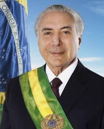 Michel Temer: foto oficial do Presidente ficou muito retocada / Foto: reprodução