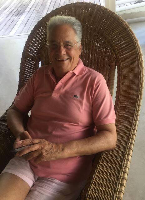 Fernando Henrique Cardoso: ex-presidente está em Trancoso com muita praia e jogo de biriba / Foto: (amiga da coluna)