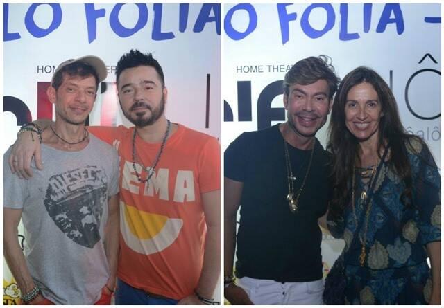 Carlos Tufvesson com Andre Piva e Carlos Rodeiro com Flora Gil / Fotos: Marcio Reis