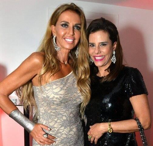 Nina Stevens e Narcisa Tamborindeguy: as amigas foram assaltadas no calçadão de Copacabana na tarde desta sexta-feira (03/02) / Foto: Cristina Granato (arquivo Site Lu Lacerda)