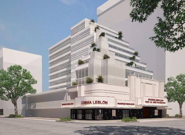 O projeto de Piva para o cinema Leblon: inauguração prevista para 2020