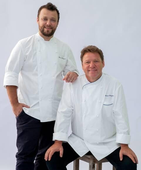 Os chefs Thomas e Claude Troisgros: