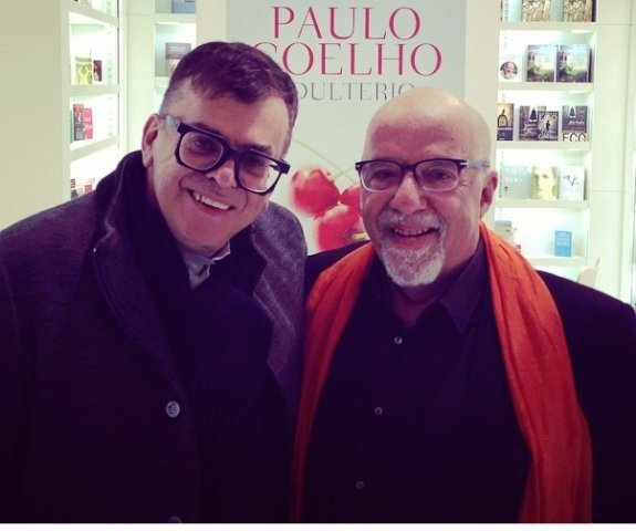 O novelista Walcyr Carrasco e Paulo Coelho são amigos há alguns anos / Foto: reprodução