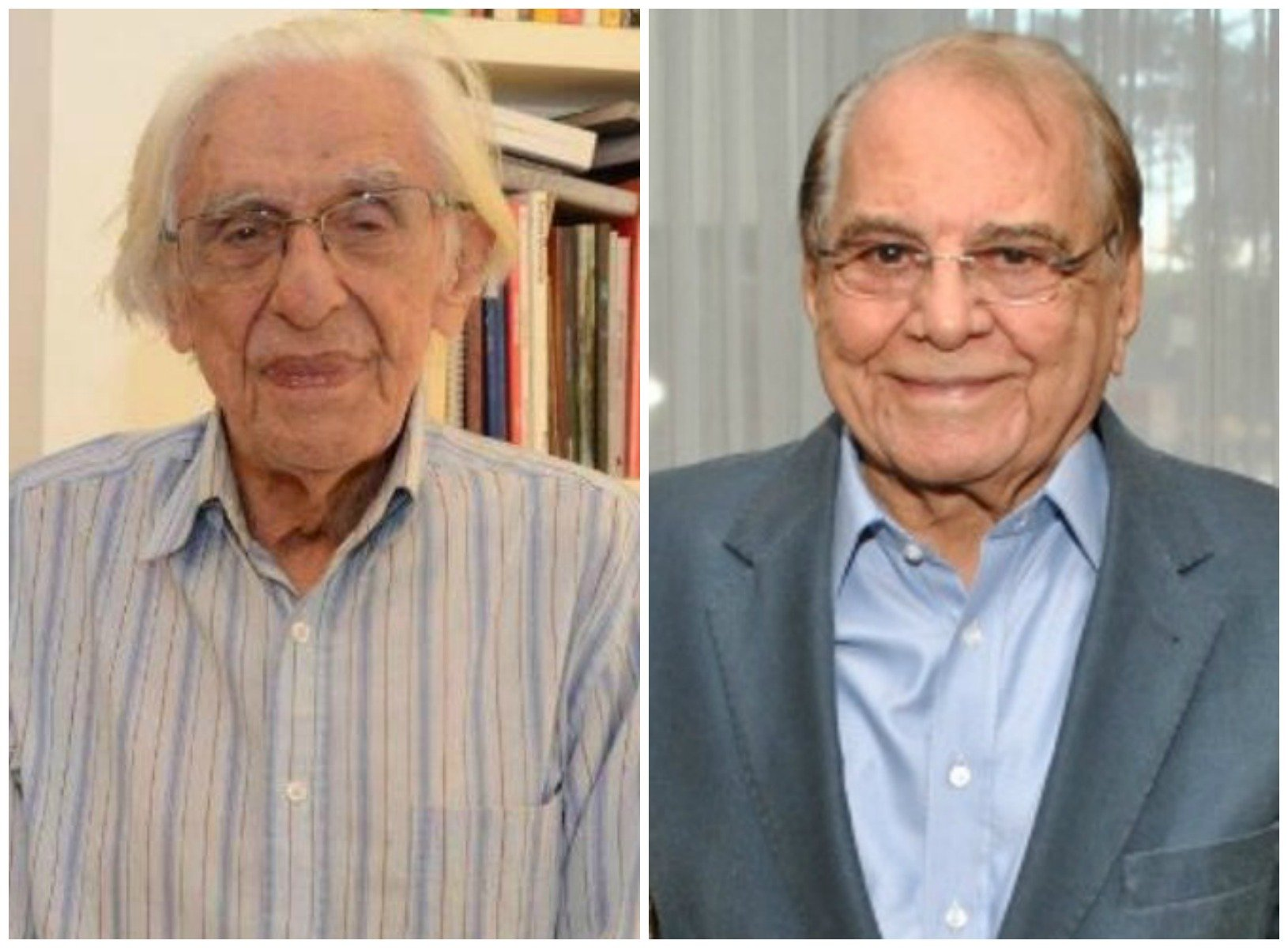 Vagas de Ferreira Gullar e Ivo Pitanguy: ABL vai definir os ocupantes na próxima semana / Fotos: Marco Rodrigues e Armando Araújo