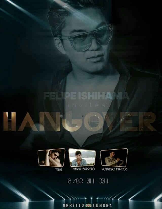 """Felipe Ishihama: convite da festa inspirado no filme """"Hangover"""" devido a semelhança com o ator Ken Jeong, o Mr. Chow"""
