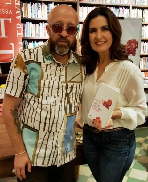 Fabricio Carpinejar e Fátima Bernardes: o escritor, que já publicou mais de 40 livros, faz participação semanal no programa da jornalista / Foto: divulgação