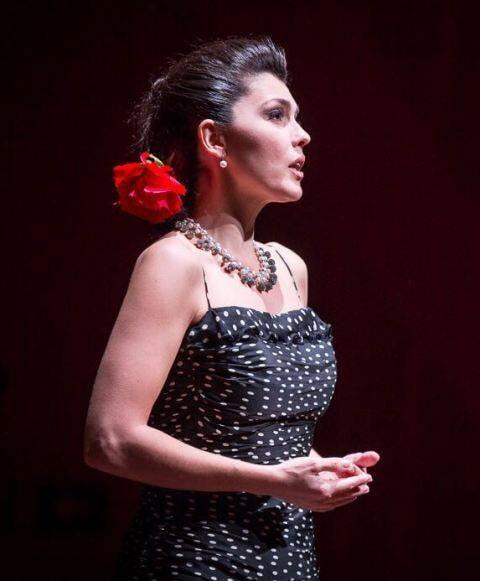 A cantora lírica Angelica de la Riva, numa de suas últimas apresentações / Foto: Daniel Ebendinger