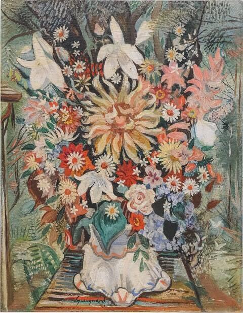 """Em cima, o quadro """"Casamento na Roça"""", de Cândido Portinari; nesta foto, """"Vaso de Flores"""", de Alberto da Veiga Guignard / Fotos: divulgação"""