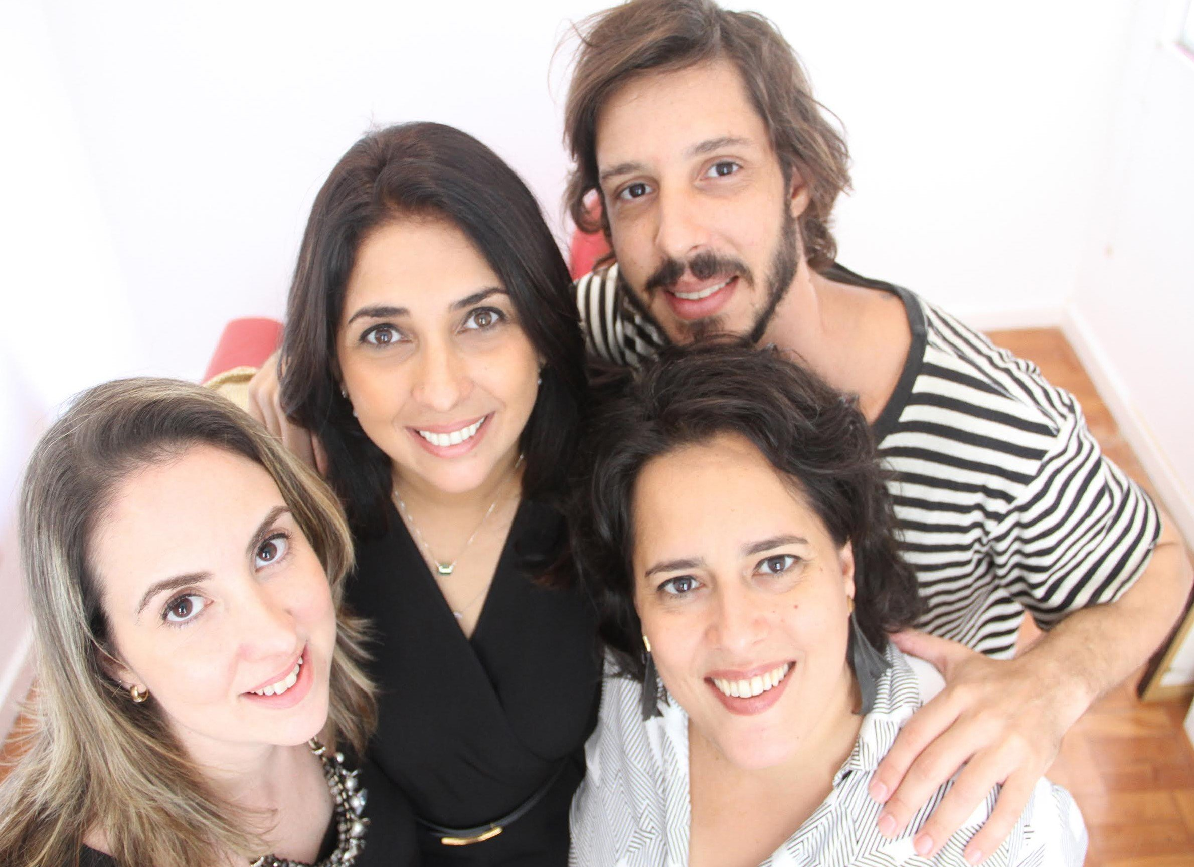 Bia Cavalcanti, Elisangela Valadares, Carina Morandi e Gabriel Antonini: sócios inauguram a EV Projects / Foto: Maira Bittencourt