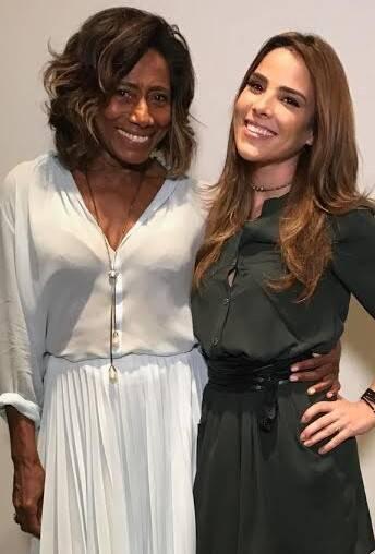Glória Maria e Wanessa Camargo: a jornalista, nova embaixadora da UNAIDS, com Wanessa Camargo, também embaixadora