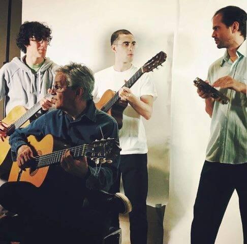 Caetano Veloso e os filhos Tom, Zeca e Moreno: família reunida em show / Foto: Paula Lavigne