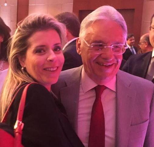 Na primeira foto, o governador Geraldo Alckmin e o prefeito João Doria; acima, a advogada Anna Paula Rudge e Fernando Henrique Cardoso/ Fotos: divulgação