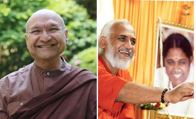 Segyu Rinpoche e Swami Ramakrishnananda Puri: monges fazem palestra no Rio /Fotos: Divulgação