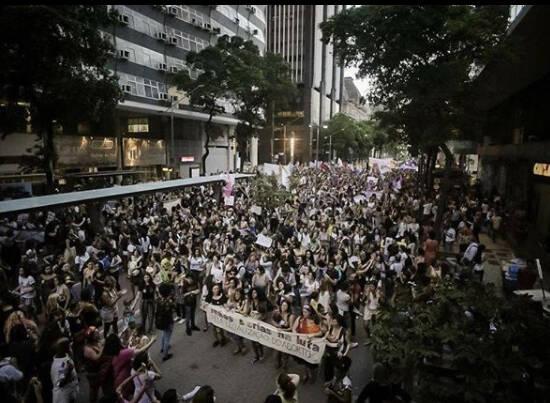 """""""PEC do aborto"""": a manifestação no Rio mobilizou muitas mulheres /Fotos: Mídia Ninja"""