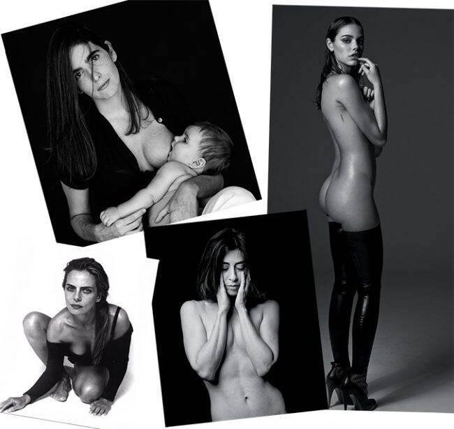 As mulheres de Bob: Malu Mader amamentando, Laura Neiva só de botas, Bruna Lombardi e Fernanda Torres /Fotos: Bob Wolfenson