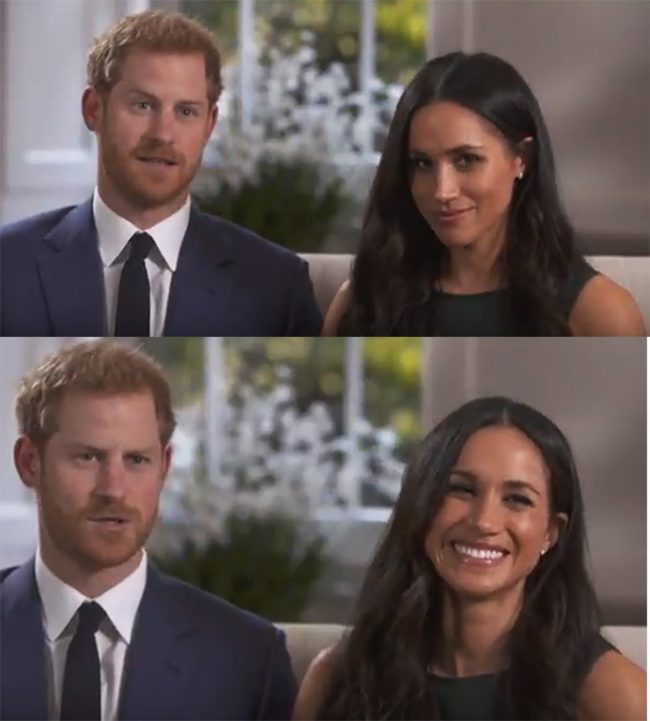 Príncipe Harry e Meghan Markle: troca de olhares diz tudo /Foto: Reprodução YouTube