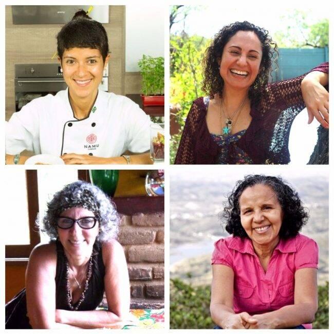 Chefs participantes da 'Semav': Luiza Savietto, Carla Simionato, Conceição Trucom e Fátima Alves /Fotos: Reprodução