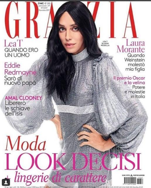 Lea T: brasileira é capa da revista italiana Grazia e revela passado difícil /Foto: Reprodução