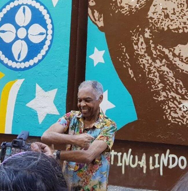 Gilberto Gil: artista para a Cinelândia para inaugurar painel /Foto: Divulgação