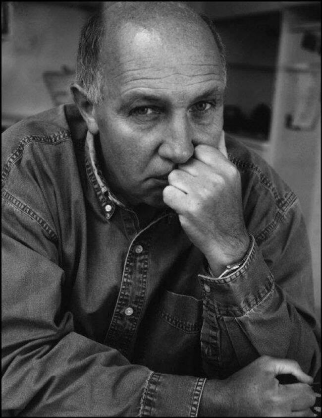 Autoportrait of French photographer and film maker Raymond DEPARDON.