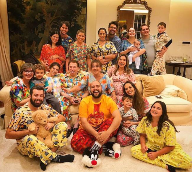 Silvio Santos: comemoração dos 87 anos com festa do pijama /Foto: Reprodução Instagram