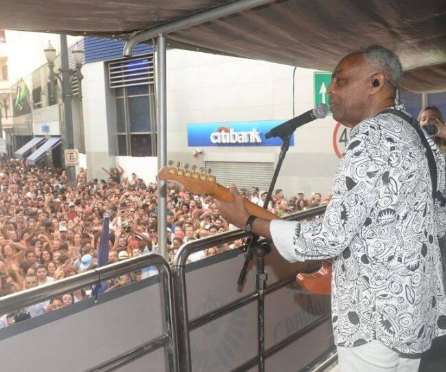 Gilberto Gil: cantor fez show na tarde desta quinta-feira (25/01) em São Paulo /Fotos: AG.News