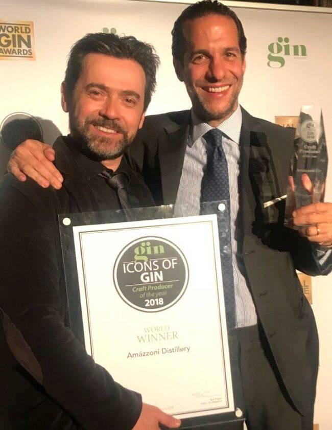 Alexandre Mazza e Arturo Isola: prêmio de Melhor Produtor Artesanal do Mundo para o Amázzoni /Foto: Divulgação
