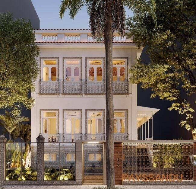 Como vai ficar a fachada no Residencial Payssandu totalmente reformada mantendo as características originais /Foto: Divulgação