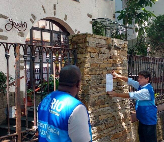 Grado: Marcelo Maywald, superintendente da Zona Sul, interdita alvará do restaurante /Foto: Reprodução